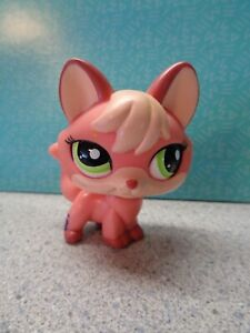 🦊Littlest Pet Shop 🦊 Large Orange FOX #2114 ~Green Eyes