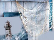 Deko Fischernetz ca.150 x200 cm Maritimer Verzierung Badezimmer Baumwolle