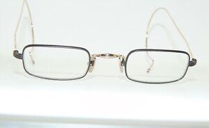 THOM BROWNE TB-900-B-GLD-43 Black Iron/Gold Authentic 43mm Eyeglasses