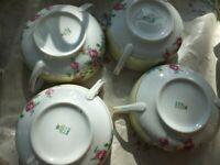 Set of 4 Floral bowls-  TK Thun Bohemia Sanlo