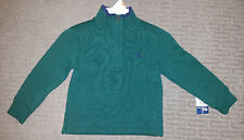 Ralph Lauren Boys 2T Green Half-Zip Mockneck Sweater Sold for $45