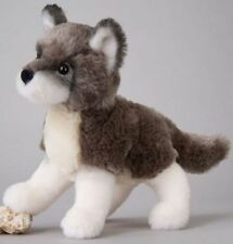"ASHES Douglas Cuddle Toy plush 7"" long GRAY WOLF stuffed animal grey timber"
