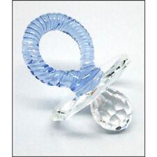 BABIES Blue CRYSTAL DUMMY,PACIFIER,FIGURINE,Baby Gift, Newborn Keepsake