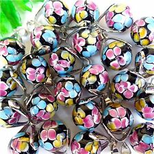 20Pcs Charming Nice Multicolor Lampwork Glass Ball Pendant Bead 14mm DD2028