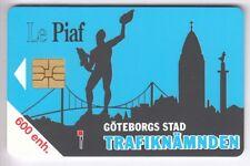 PIAF PARKING CARTE / CARD ..  600U SO3 GOTEBORG SUEDE 1.000EX 09/92 CHIP/PUCE