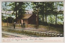 USA postcard - First House Built in Tacona, Washington - P/U 1908 (A184)