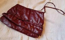 "Retro Vintage Burgundy purse, new with tags , cross over 8""x11"" clip strap 40"""