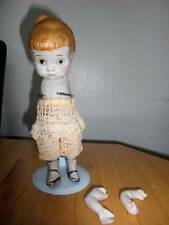 "Marked Made in Japan ~ Vintage Bisque Doll 7 3/4"" w/Knot Tie"