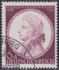 Deutsches Reich 810 O 150. Todestag von Wolfgang Amadeus Mozart, gestempelt
