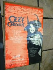 Ozzie Osbourne Diary of a Madman Tour/Concert Poster 1982
