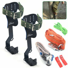 2 Gear Treepole Climbing Spike Safety Belt Straps Lanyard Carabiner Ropes Usa