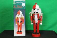 "Vintage 10"" Wood Nutcracker Christmas Woolworth Holiday Decorative Collectible"