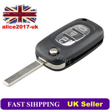 3 Button Car Flip Remote Key Fob Case Shell For Renault Clio Kangoo Modus Megane