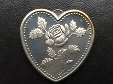 Especially For You Heart Shaped Silver Art Medal P2654