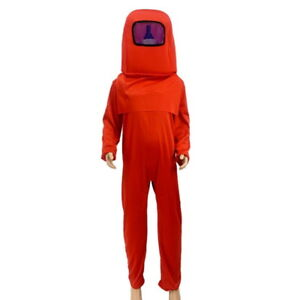 Crewmate Imposter Costume Child Among Us Red Jumpsuit Group Cosplay Space Suit