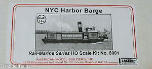 American Model Builders, Inc HO #8001 Harbor Barge #1 -- New York Central - Wood