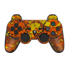 Sony PS3 Controller Skin - Digi Orange Camo Hunting - DecalGirl Decal
