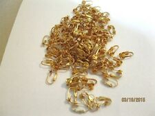 50 LOT Vintage Goldtone Clip Earring Backs W/Posts Make Your Own Earrings