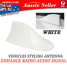 Distinctive Diamond White Shark Fin Aerial Refit Car Roof Signal Booster Antenna