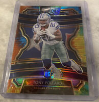 2019 select football Tony Pollard Tie Die prizm RC /25