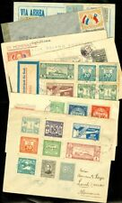 EDW1949SELL : PARAGUAY Collection as received of 7 covers 5 Reg Air & 1 Censored