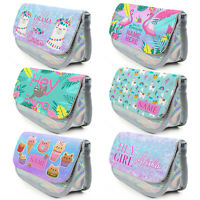 Personalised GIRLS Pencil Case Girly Bag School Kids Stationary Birthday Gift