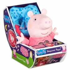 Peppa Pig Sleepover Peppa Plush Soft Toy with Lullaby Music and Light