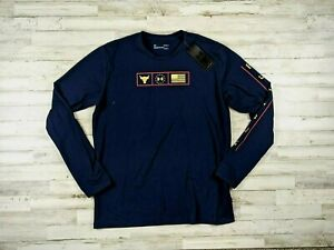 Under Armour Mens size Large Project Rock Graphic Long Sleeve Shirt 1346108-408
