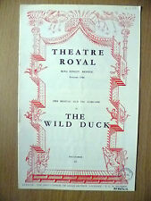 Theatre Royal, OLD VIC COMPANY 1953- THE WILD DUCK by Henrik Ibsen/ Max Faber