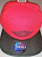 NIKE AIR JORDAN II 2 NEW SNAPBACK HAT RED BLACK CAP STYLE 724891 687 WITH TAGS