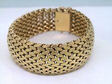 Vintage Armband 750 Gelbgold 18Kt Gold breites Schmuckarmband 72,66 Gramm
