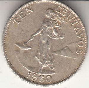 Philippines 1960 10 Centavos Nickel brass • 2 g • ⌀ 17.8 mm KM# 188, Schön# 26