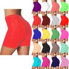 Womens Ladies Active Casual Sports Tights Lace Stretchy Plain Cycling Shorts New