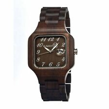 NEW Earth SESO02 Unisex Watches Testa Series Dark Brown Wood Eco Friendly Watch