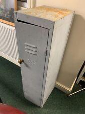 Vintage Mid Century Industrial Metal Storage Locker