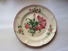 French Faience Hand Painted French Faience Pivoine Peony Flowers Plate, ff529