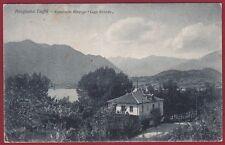 TORINO AVIGLIANA 17 LAGO - RISTORANTE ALBERGO VAL SUSA Cartolina viaggiata 1924