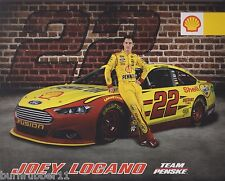 "2014 JOEY LOGANO ""SHELL PENNZOIL"" #22 NASCAR SPRINT CUP SERIES POSTCARD"