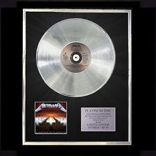 METALLICA MASTER OF PUPPETS  CD PLATINUM DISC LP FREE P+P!