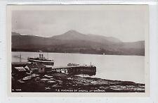 "STEAMER ""DUCHESS OF ARGYLL"" AT BRODICK: Isle of Arran postcard (C17134)"