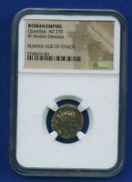NGC Roman Empire Quintillus, AD 270-270 BI Double Denarius Roman Age of Chaos