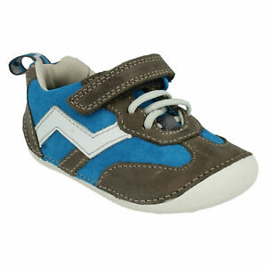 BOYS CLARKS CRUISER PLAY INFANT HOOK & LOOP CASUAL TODDLER FIRST SHOES LACE SIZE