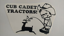 CUB CADET pee decal MOWER parts sticker TRACTOR pull pulling trailer plow NEW
