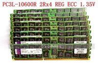 16GB 32GB 64GB 128GB 256GB PC3L-10600R DDR3-1333MHz ECC REG Server Ram 1.35V lot