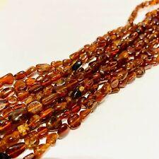 """Authentic Orange Garnet (Spessartine)Nugget Gemstones Bead 8-10mm -15.5"""" Strand"""