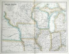 More details for united states, north america, north central usa fullarton antique map c1860