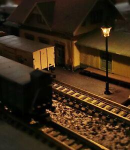 5 Noir Lanternes, Lampes, 19-64 MM Haut, Laiton, LED, Mince Position de Montage