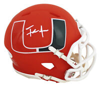 Miami Frank Gore Authentic Signed Amp Speed Mini Helmet Autographed BAS Witness