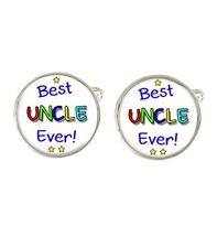 Best Uncle Ever! Mens Cufflinks Ideal Birthday Gift C711
