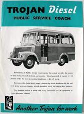 Trojan Diesel entrenador oficial anuncios hoja de ventas el 1956 de septiembre #TL262/9/54